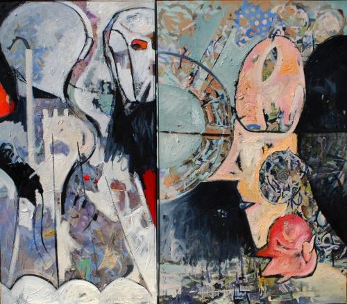 Adventus (Diptych) Oil on Canvas Raul Dorn (1)